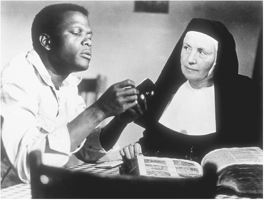 Sidney Poitier and Lilia Skalia in Lilies of the Field