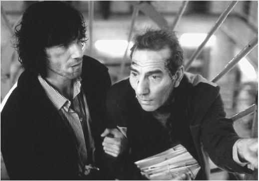Pete Postlethwaite (right) with Daniel Day-Lewis in In the Name of the Father