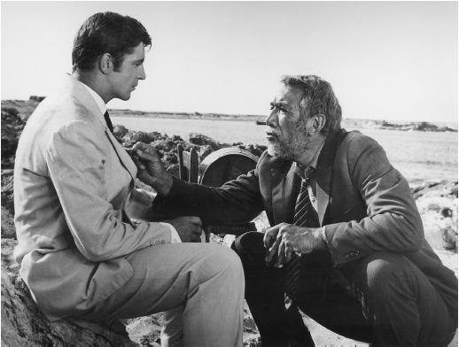 Anthony Quinn (right) with Alan Bates in Zorba the Greek