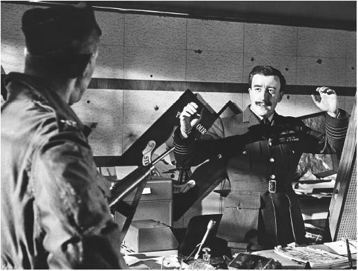 Peter Sellers in Dr. Strangelove: Or, How I Learned to Stop Worrying and Love the Bomb