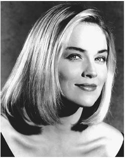 young sharon stone