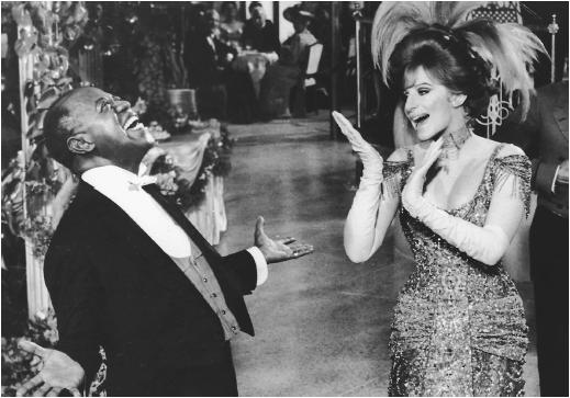 Barbra Streisand and Louis Armstrong in Hello Dolly!