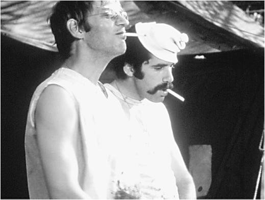 Donald Sutherland (left) with Elliott Gould in M * A * S * H