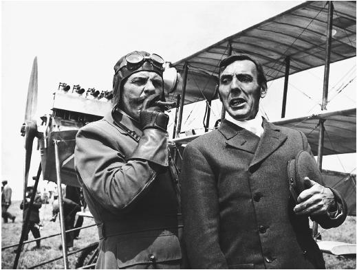 Terry-Thomas (left) in Those Magnificent Men in Their Flying Machines
