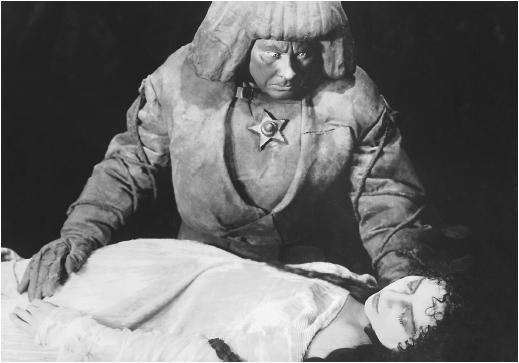 Paul Wegener and Lya de Putti in The Golem