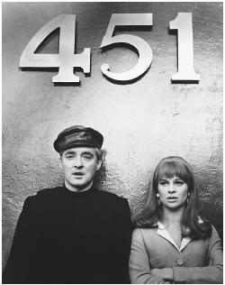 Oskar Werner with Julie Christie in Farenheit 451