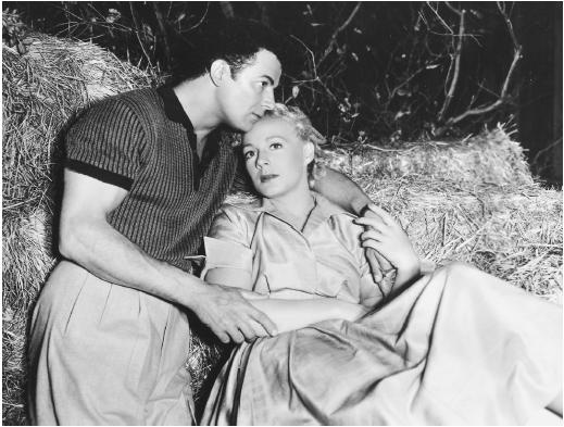 Cornel Wilde with Betty Hutton in The Greatest Show on Earth