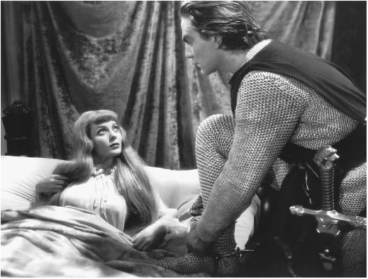 Loretta Young with Henry Wilcox in The Crusades