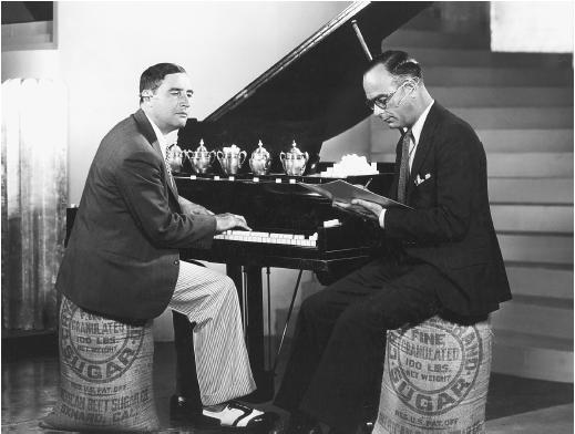 Nacio Herb Brown (left) with Arthur Freed