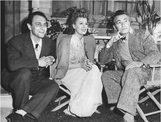 Sidney Buchman (left) with Irene Dunne and Charles Vidor