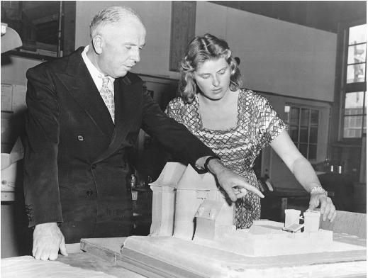 Richard Day with Ingrid Bergman