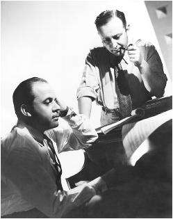 Arthur Freed (right) with Nacio Herb Brown