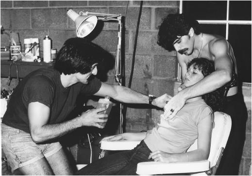 Tom Savini (left)