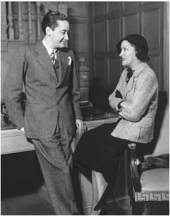 Irving Thalberg with Gloria Swanson